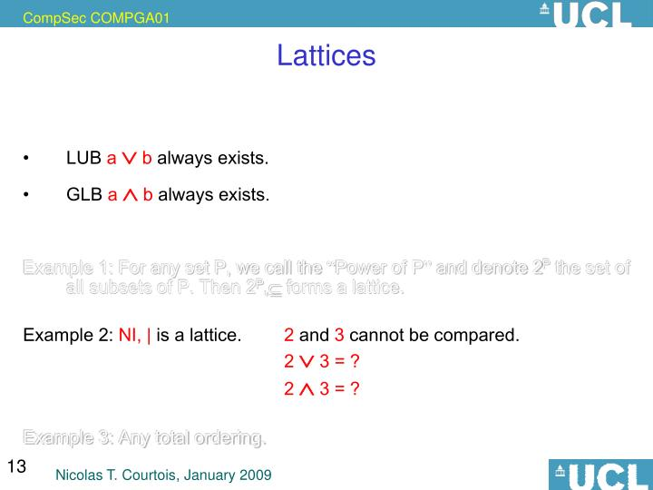 Lattices