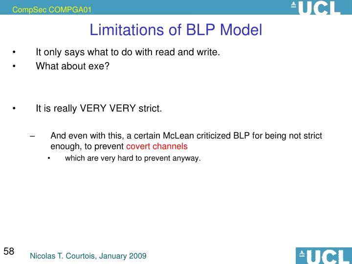 Limitations of BLP Model