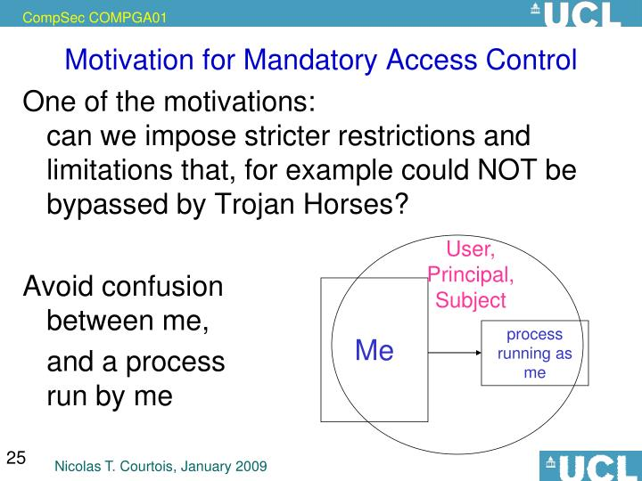 Motivation for Mandatory Access Control