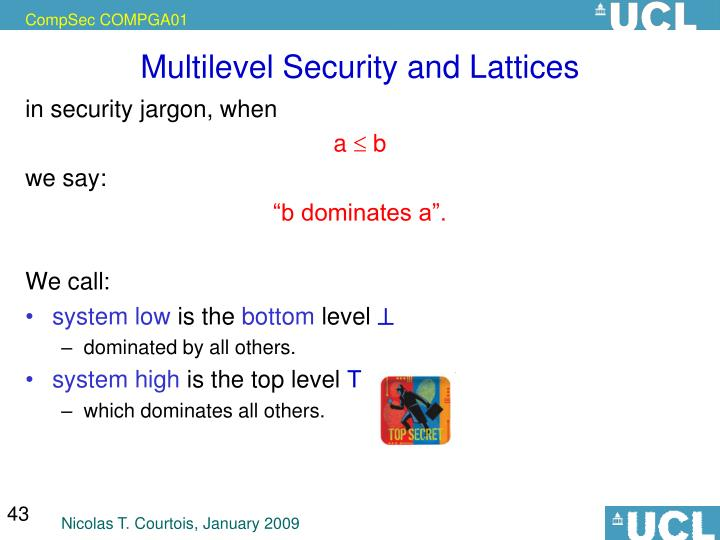 Multilevel Security and Lattices