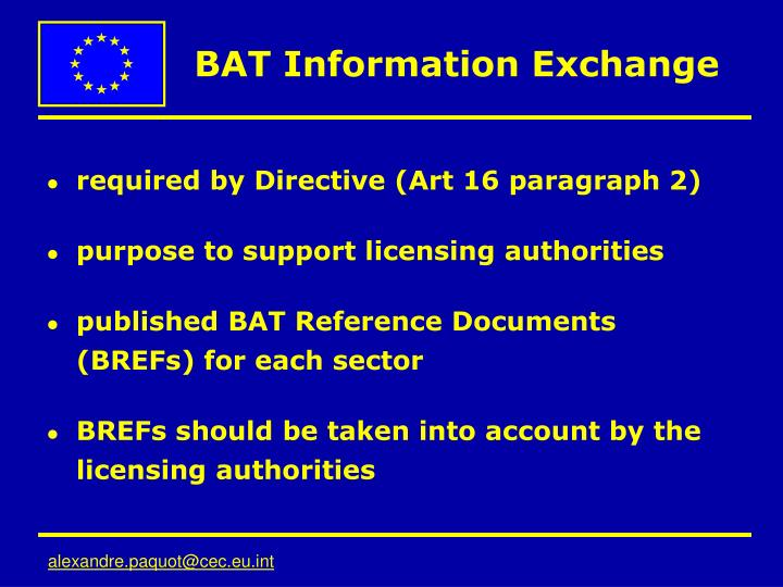 BAT Information Exchange