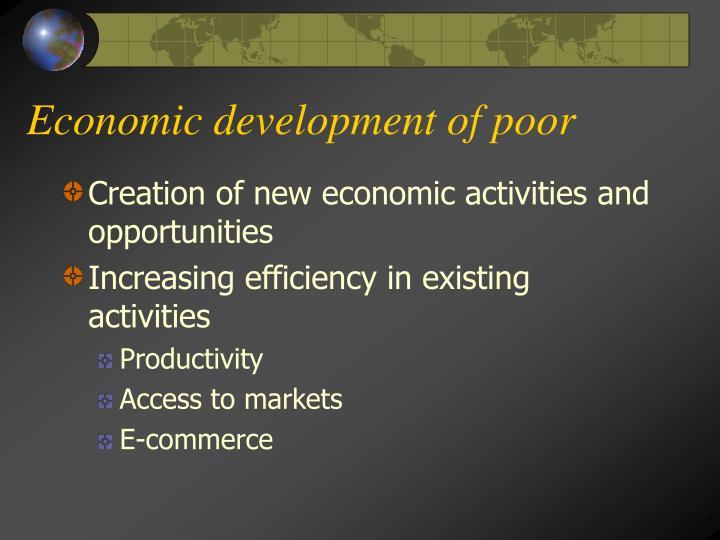 Economic development of poor
