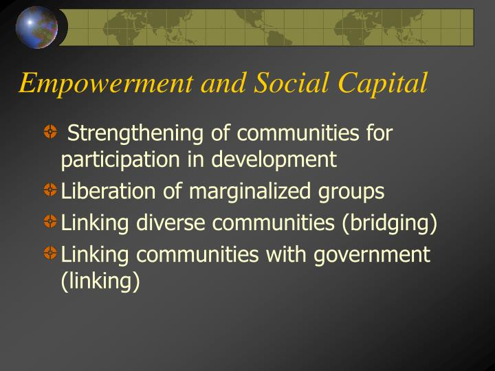 Empowerment and Social Capital