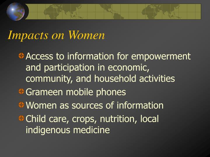 Impacts on Women
