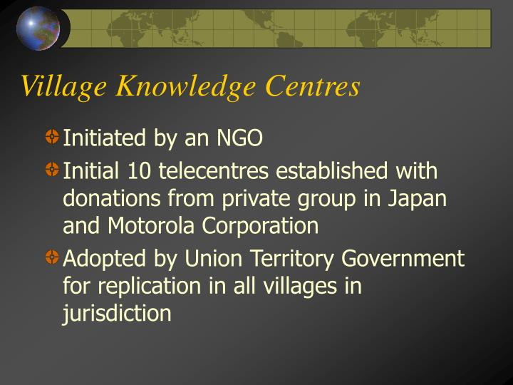 Village Knowledge Centres
