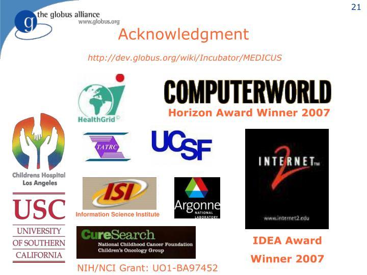 Horizon Award Winner 2007