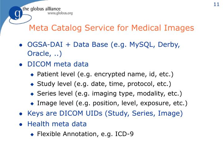 Meta Catalog Service for Medical Images