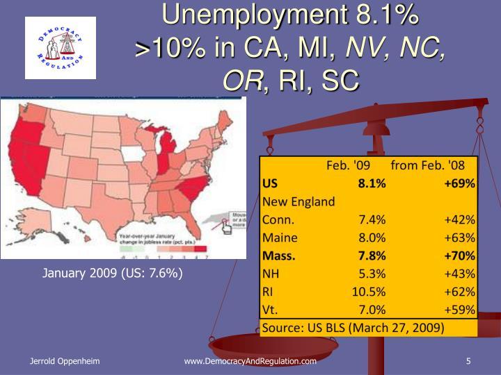 Unemployment 8.1%