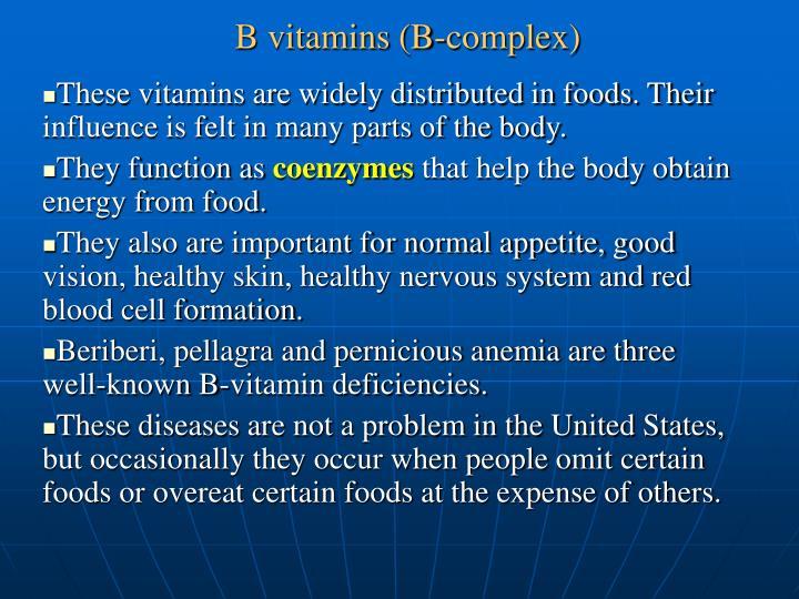 B vitamins (B-complex)