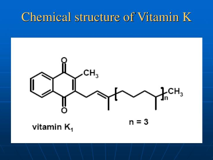 Chemical structure of Vitamin K