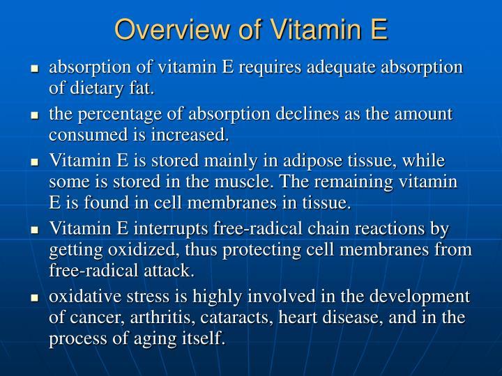 Overview of Vitamin E