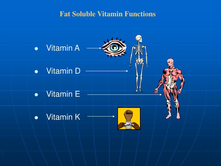 Fat Soluble Vitamin Functions