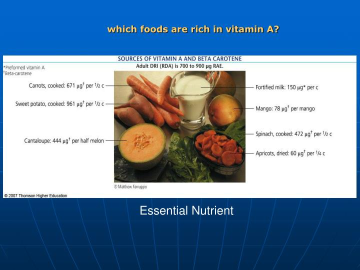 which foods are rich in vitamin A?
