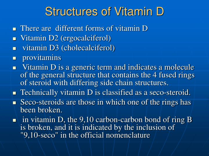 Structures of Vitamin D
