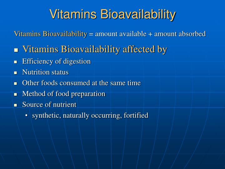 Vitamins Bioavailability