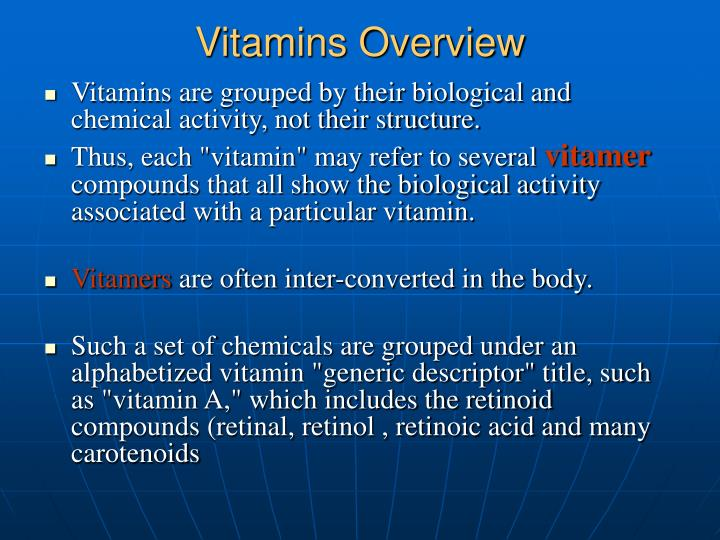 Vitamins Overview