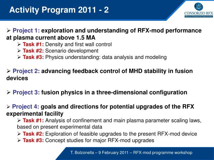 Activity Program 2011 - 2