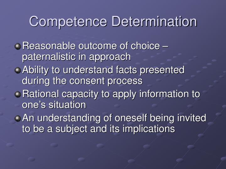 Competence Determination