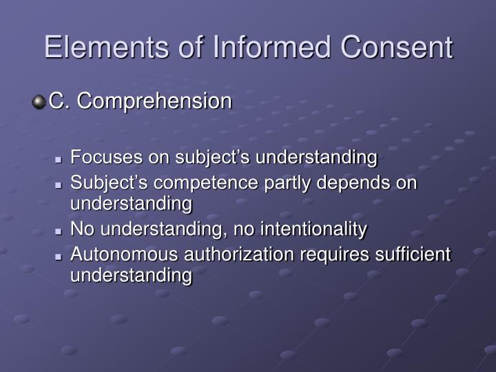 Elements of Informed Consent