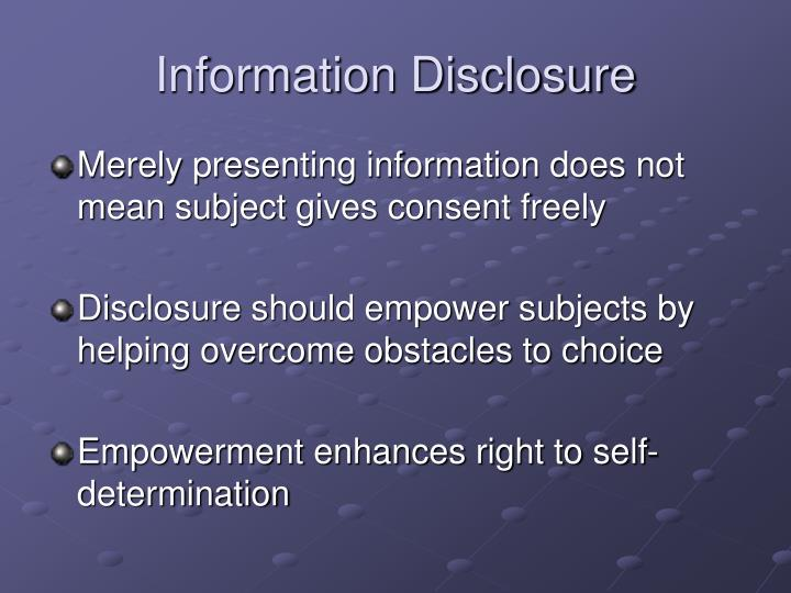 Information Disclosure