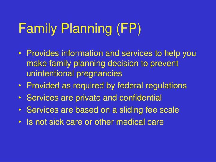 Family Planning (FP)