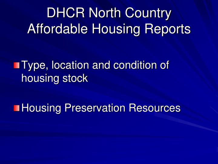 DHCR North Country
