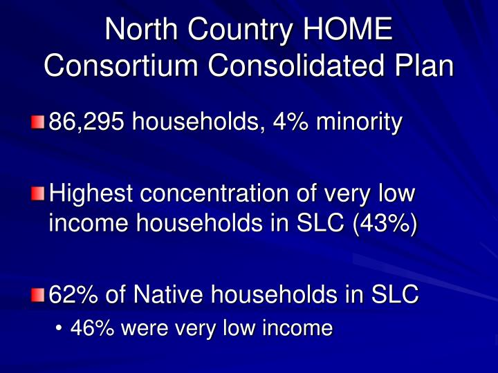 North Country HOME Consortium Consolidated Plan