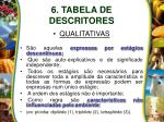 6 tabela de descritores7