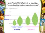 cultivares exemplo x medidas por que n o utilizar medidas para diferencia o