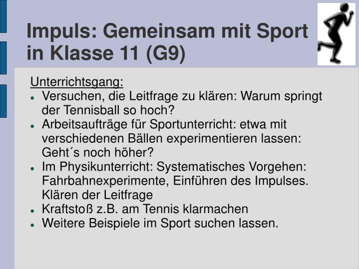 Impuls: Gemeinsam mit Sport