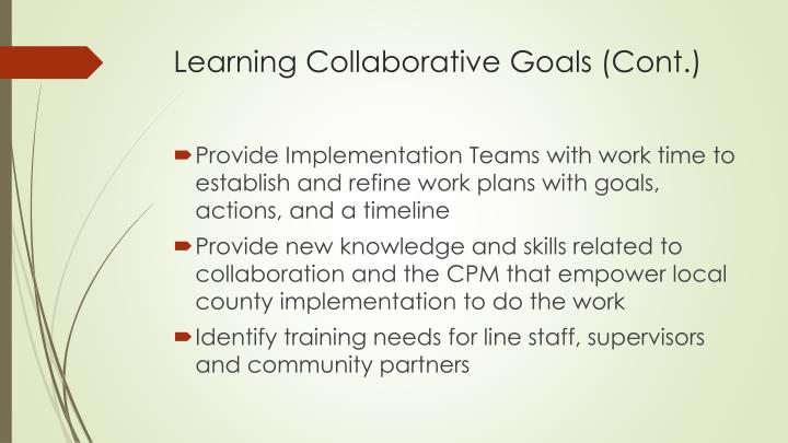 Learning Collaborative Goals (Cont.)