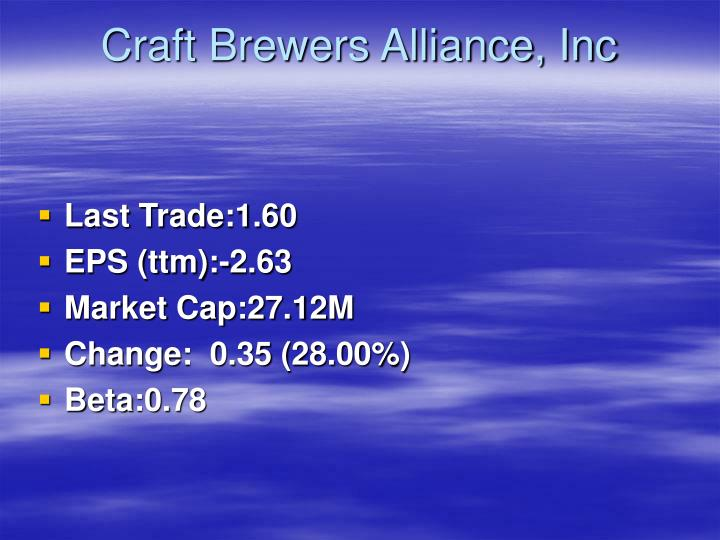 Craft brewers alliance inc1