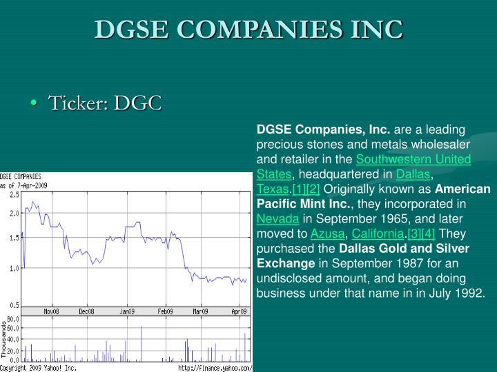 DGSE COMPANIES INC