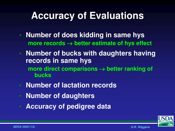 Accuracy of Evaluations