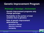genetic improvement program