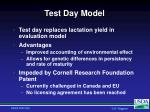 test day model