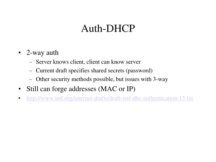Auth-DHCP