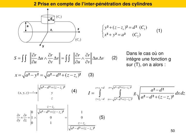 2 Prise en compte de linter-pntration des cylindres