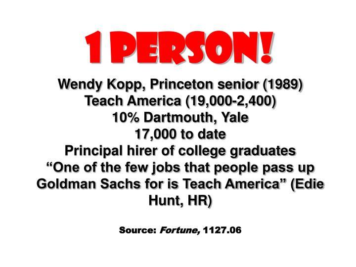 1 Person!
