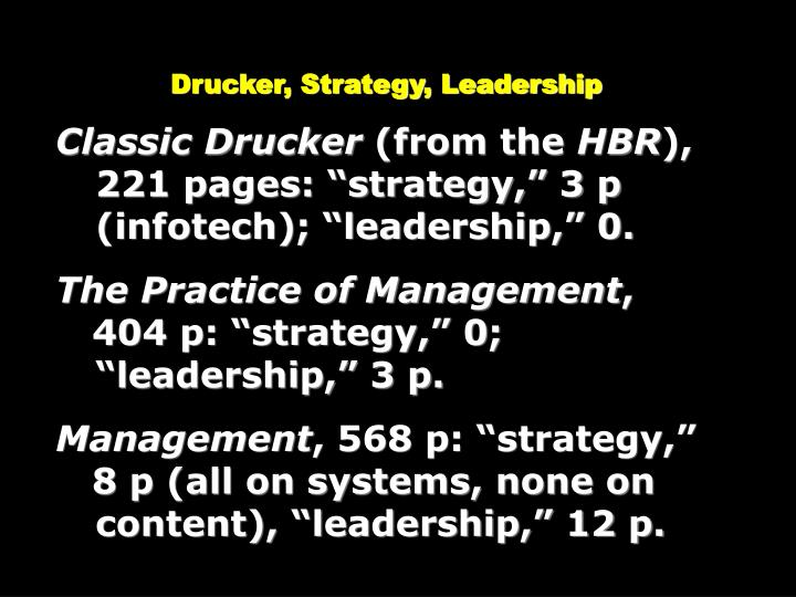 Drucker, Strategy, Leadership