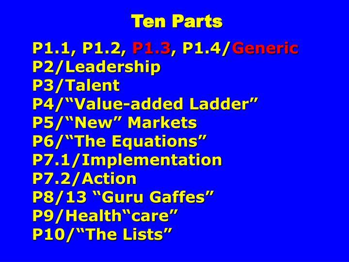 Ten Parts