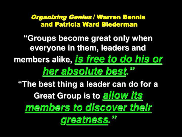 Organizing Genius