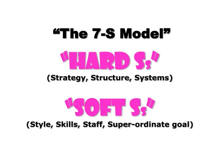 The 7-S Model