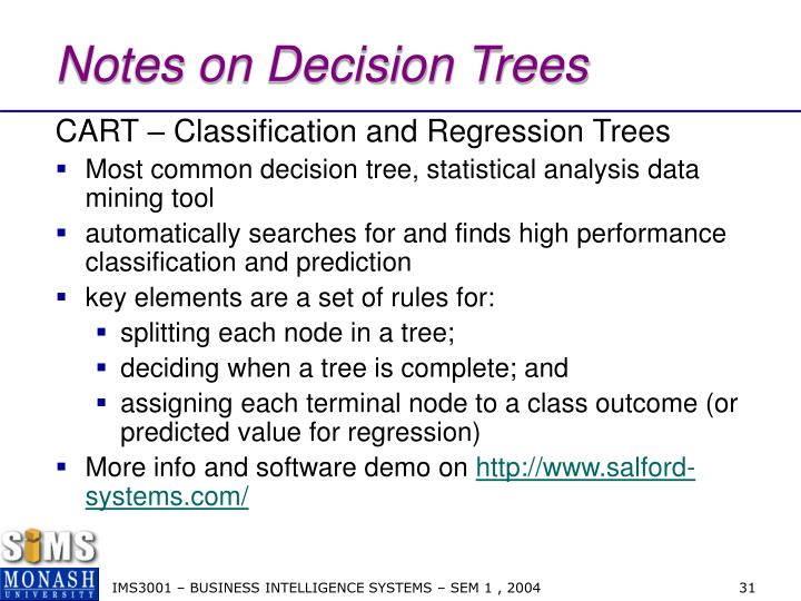 Notes on Decision Trees