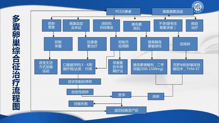多囊卵巢综合征治疗流程图