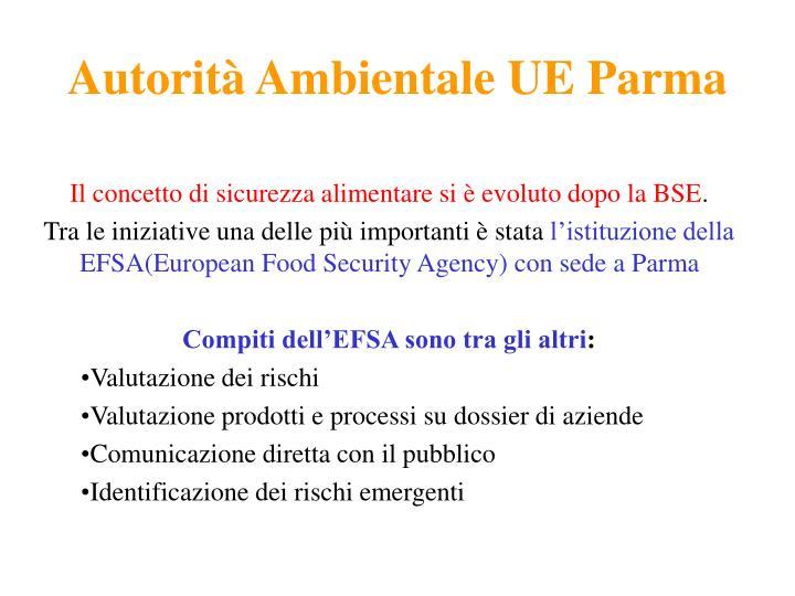 Autorità Ambientale UE Parma