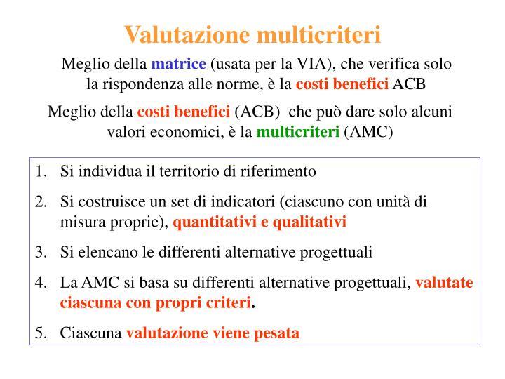 Valutazione multicriteri