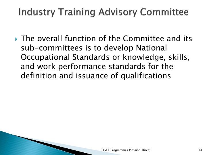 Industry Training Advisory Committee