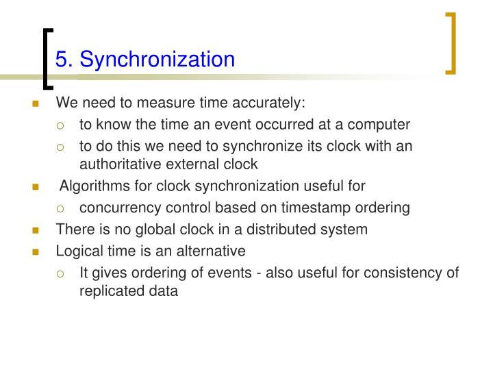 5. Synchronization