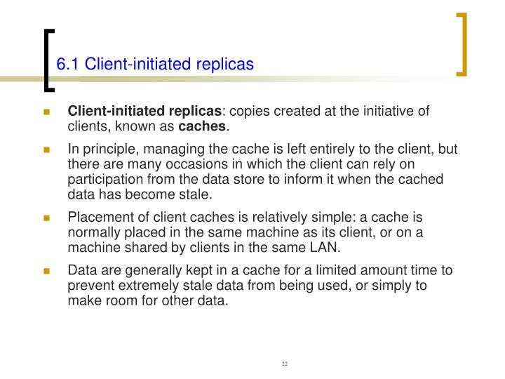 6.1 Client-initiated replicas
